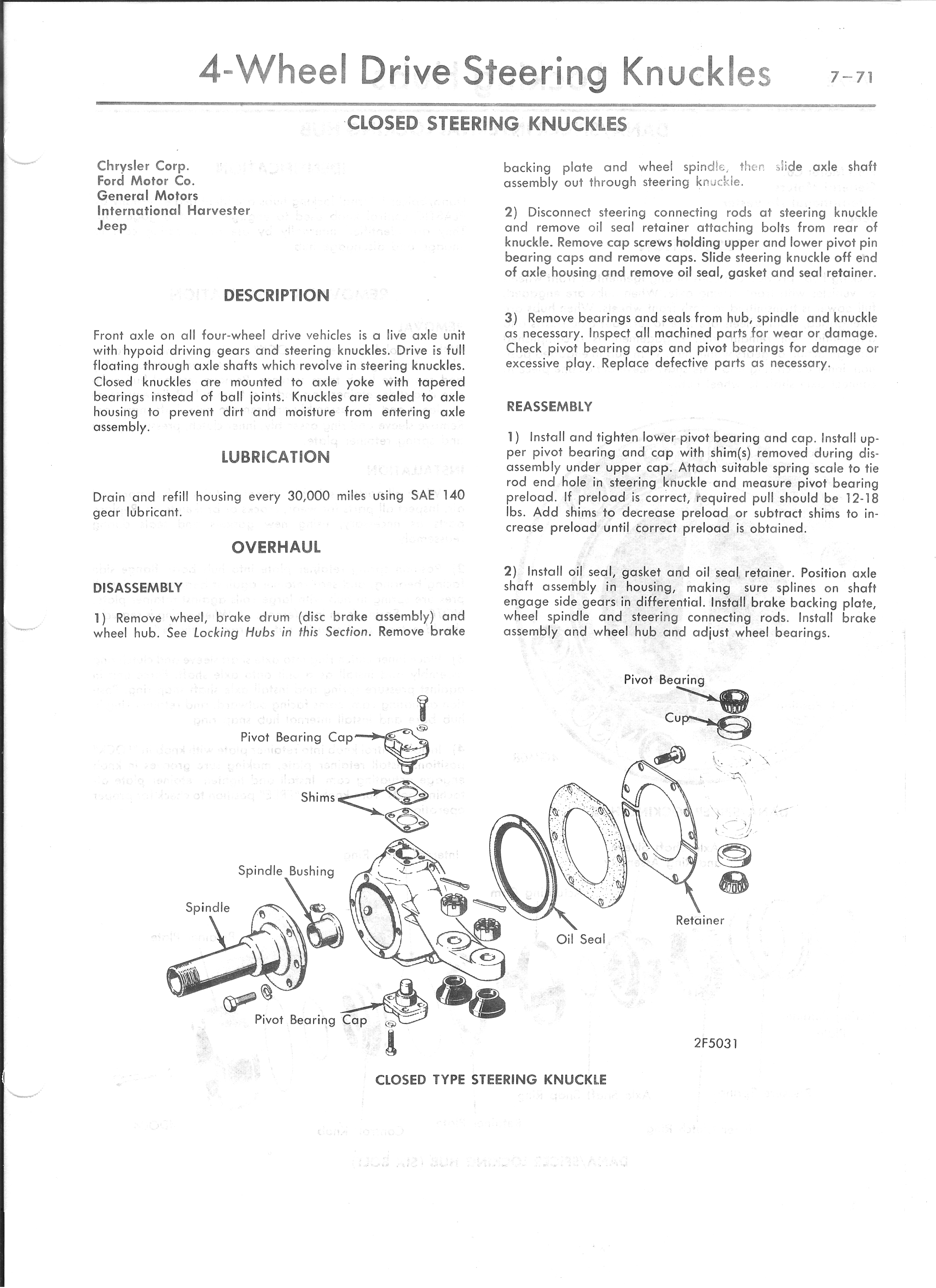 How To Replace A Front Wheel Hub On A 1974 Dodge W